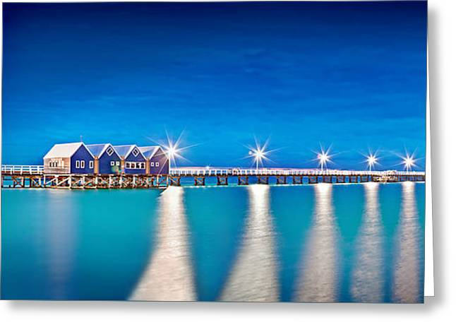 Wharf Greeting Cards - Southern Star Lights Greeting Card by Az Jackson