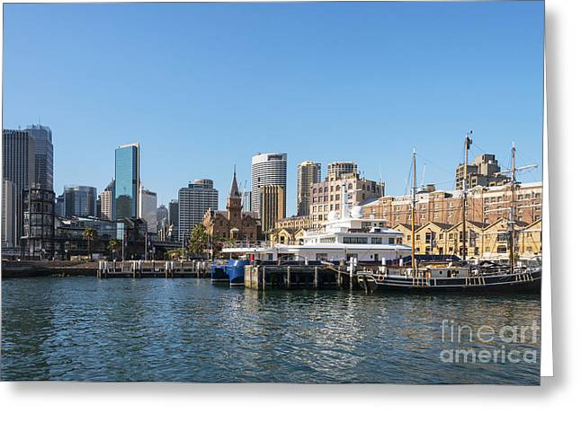 Tall Ships Greeting Cards - Southern Swan in Darling Harbour Greeting Card by Bob Phillips