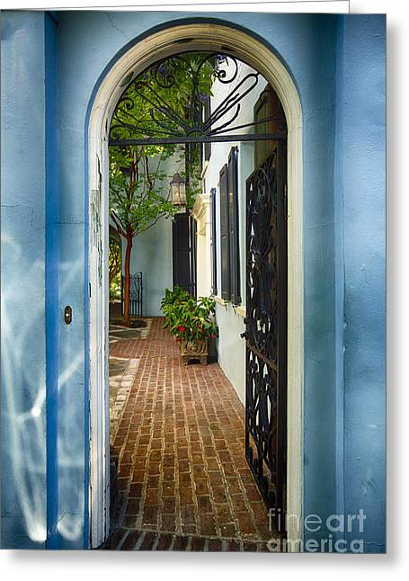 Antebellum Greeting Cards - Southern Welcome in Charleston Greeting Card by George Oze