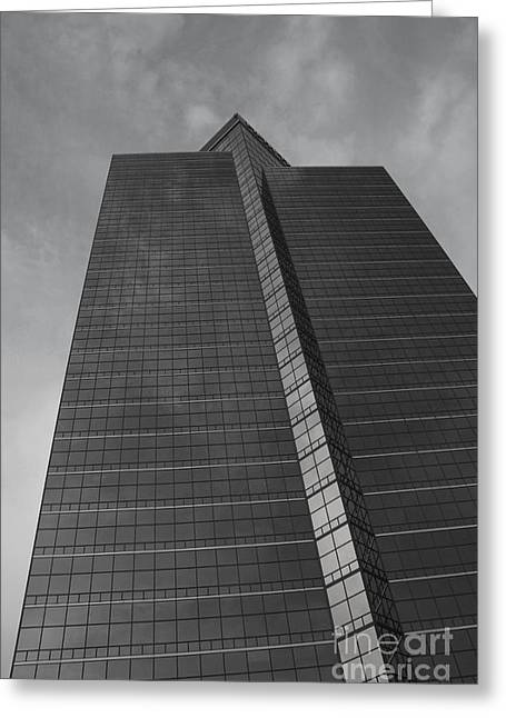 Architectur Greeting Cards - Southfield Hi Rise Black and White Greeting Card by Bill Woodstock
