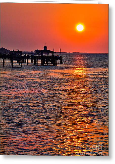 Ocean. Reflection Greeting Cards - Southport Sunrise I Greeting Card by Dan Carmichael