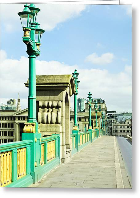 River Road Greeting Cards - Southwark Bridge Greeting Card by Tom Gowanlock