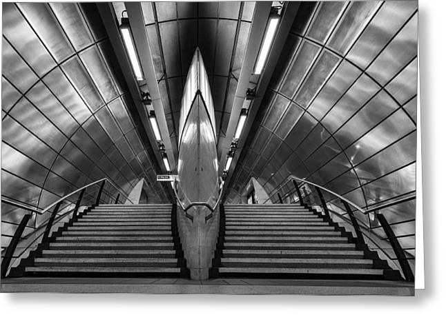 Richard Allen Greeting Cards - Southwark Tube Station Greeting Card by Richard Allen