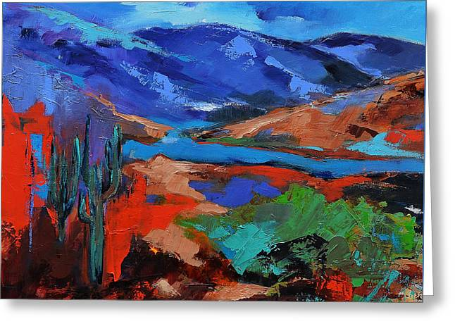 Fauvism Greeting Cards - Southwest Arizona Trail Greeting Card by Elise Palmigiani
