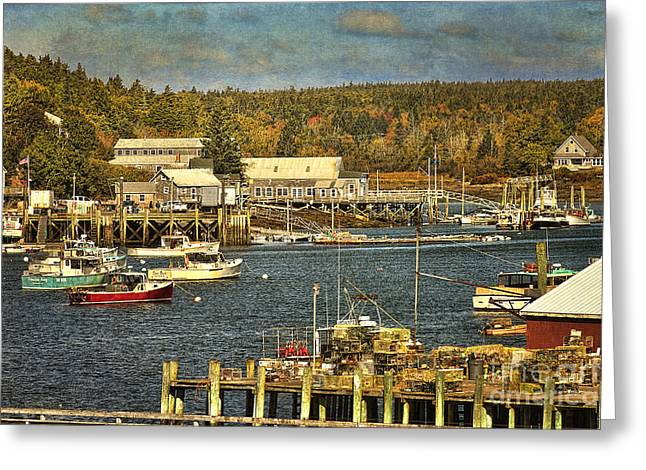 Lobster Boat Greeting Cards - Southwest Harbor Greeting Card by Cindi Ressler