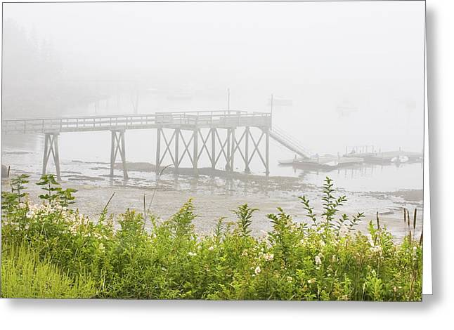 Down East Greeting Cards - Southwest Harbor - Foggy Weather - Mount Desert Island - Maine Greeting Card by Keith Webber Jr