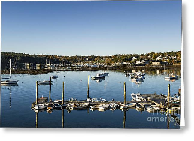 Mt Desert Island Greeting Cards - Southwest Harbor Maine Greeting Card by John Greim