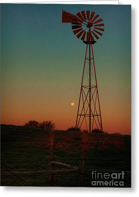 Aermotor Greeting Cards - Southwest Morning Greeting Card by Robert Frederick