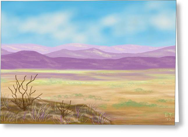 Twiggy Greeting Cards - Southwest Panorama Greeting Card by Ellie Taylor