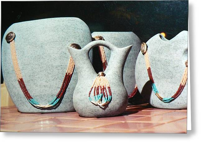 I Ceramics Greeting Cards - Southwest Pottery Greeting Card by Gary  Golden