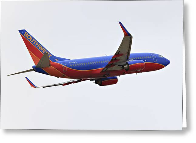 737 Greeting Cards - Southwest Skies Greeting Card by Ricky Barnard