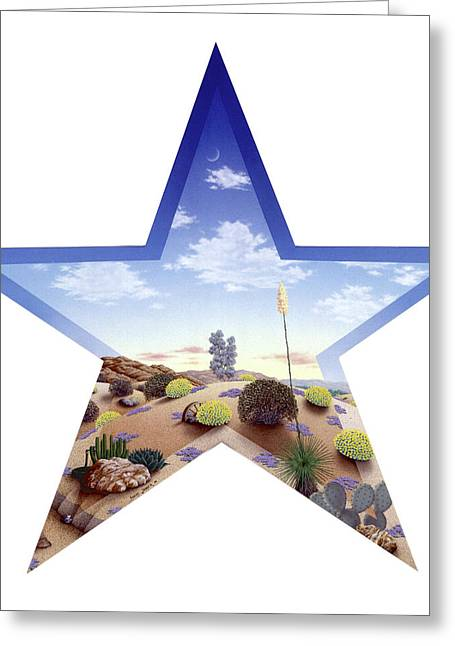 Southwest Star Greeting Card by Snake Jagger