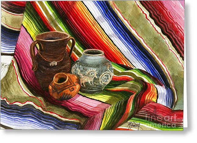 Poncho Paintings Greeting Cards - Southwest Still Life Greeting Card by Marilyn Smith