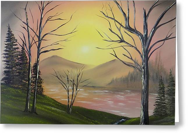 Southwest Sunrise Greeting Card by Kevin  Brown