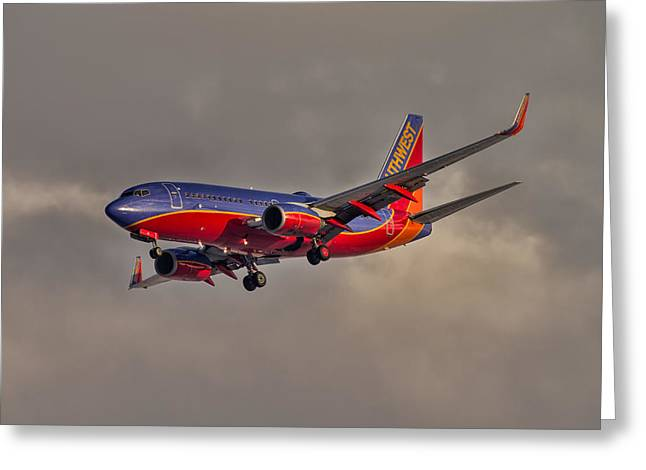 Southwest Sunset Greeting Card by Nathan Gingles