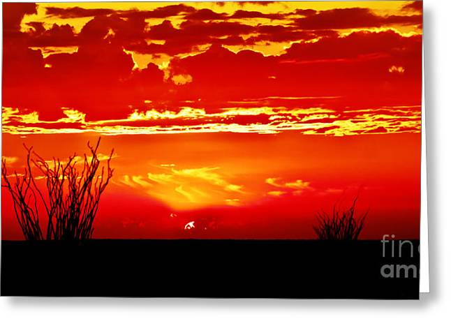 Southwest Sunset Greeting Card by Robert Bales
