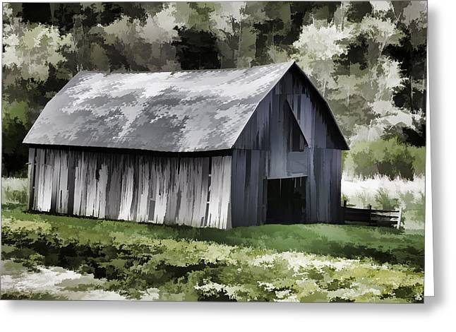 Wisconsin Barn Greeting Cards - Southwest Wisconsin Barn Painted Greeting Card by Thomas Young