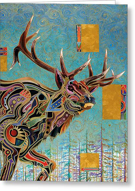 Not In Use Paintings Greeting Cards - Southwestern Elk Greeting Card by Bob Coonts