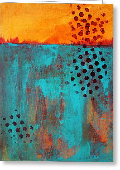 Sunset Abstract Greeting Cards - Southwestern Sky Greeting Card by Nancy Merkle