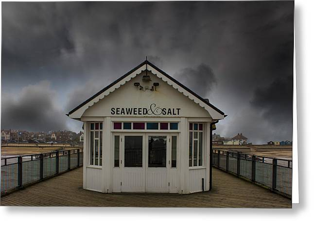 North Sea Greeting Cards - Southwold Pier Suffolk Greeting Card by Martin Newman