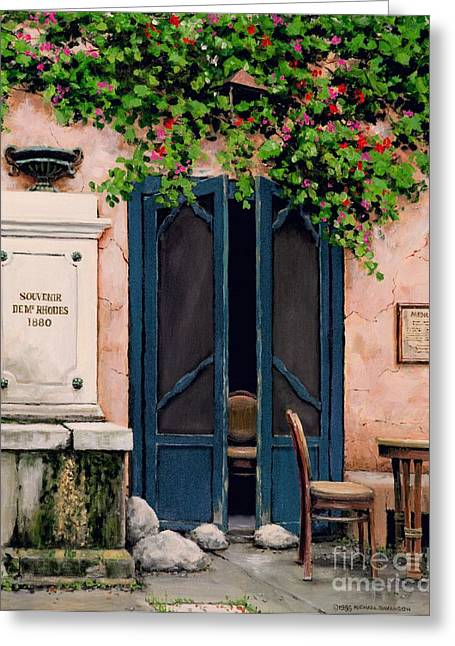 Provence Village Greeting Cards - Souvenir De Mr. Rhodes Greeting Card by Michael Swanson