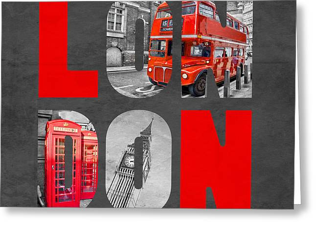 Texting Greeting Cards - Souvenir of London Greeting Card by Delphimages Photo Creations