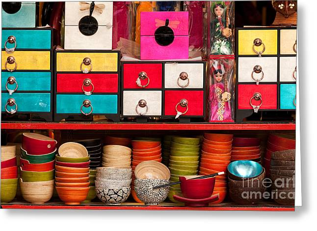 Old Quarter Greeting Cards - Souvenirs Greeting Card by Rick Piper Photography
