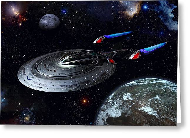 Enterprise Digital Art Greeting Cards - Sovereign Patrol Greeting Card by Joseph Soiza