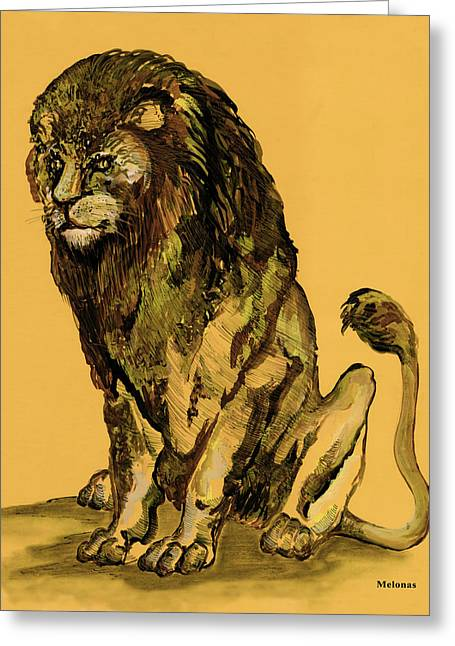 King Of Beast Prints Greeting Cards - Sovereignty Greeting Card by Peter Melonas
