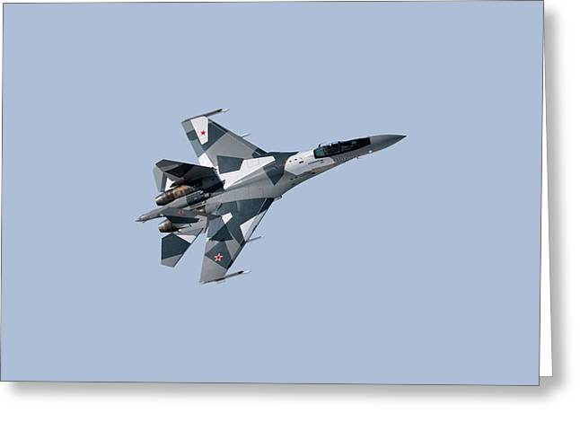Soviet Aggression Su-27 April 2014 Greeting Card by L Brown