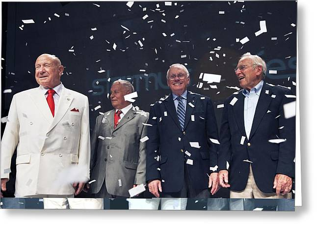 Viktor Greeting Cards - Soviet and US astronauts, Starmus 2011 Greeting Card by Science Photo Library