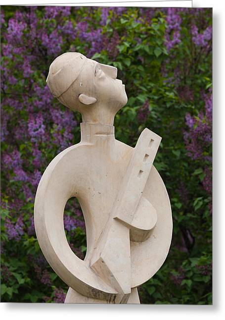 Historic Statue Greeting Cards - Soviet-era Sculpture At Art Muzeon Greeting Card by Panoramic Images