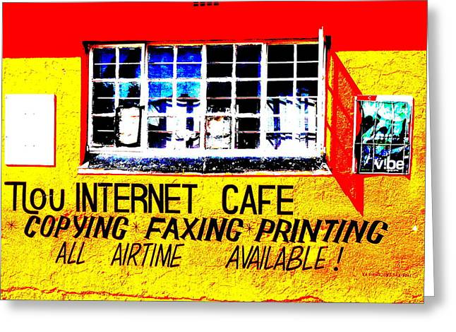 Funkpix Greeting Cards - Soweto Internet Cafe  Greeting Card by Funkpix Photo Hunter