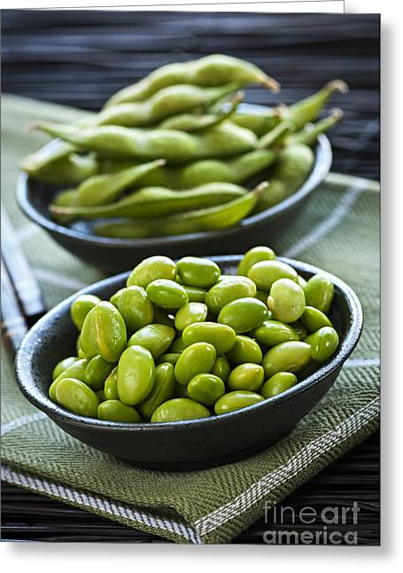 Soy Beans  Greeting Card by Elena Elisseeva