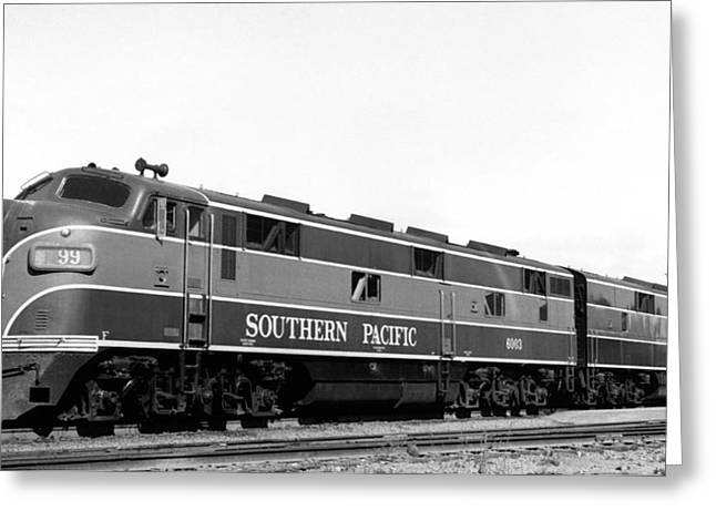 Sp Coast Daylight Train Greeting Card by Underwood Archives