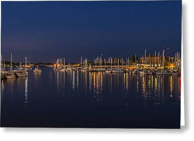 Enhanced Greeting Cards - Spa Creek Annapolis - Pano Greeting Card by Brian Wallace
