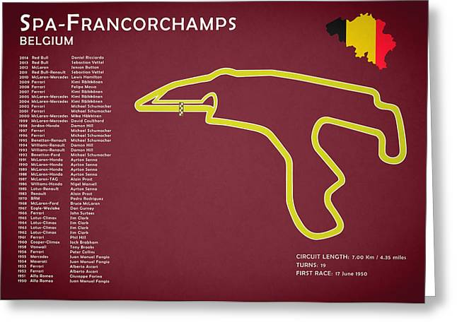 Spa Greeting Cards - Spa Francorchamps Greeting Card by Mark Rogan