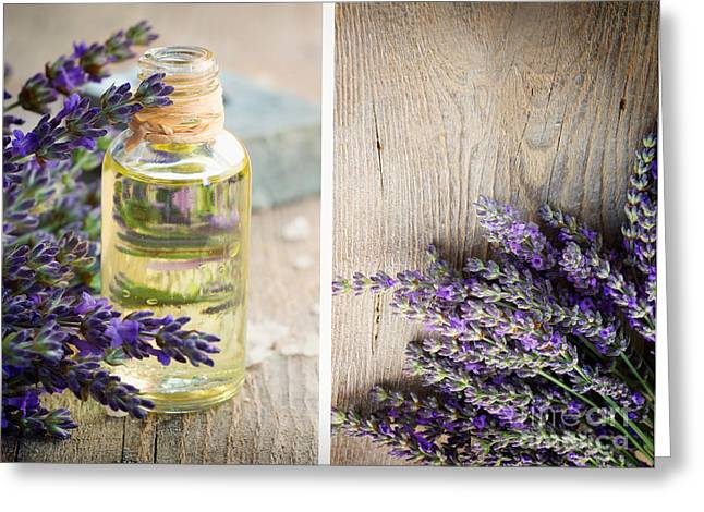 Therapy Greeting Cards - Spa with lavender  Greeting Card by Mythja  Photography