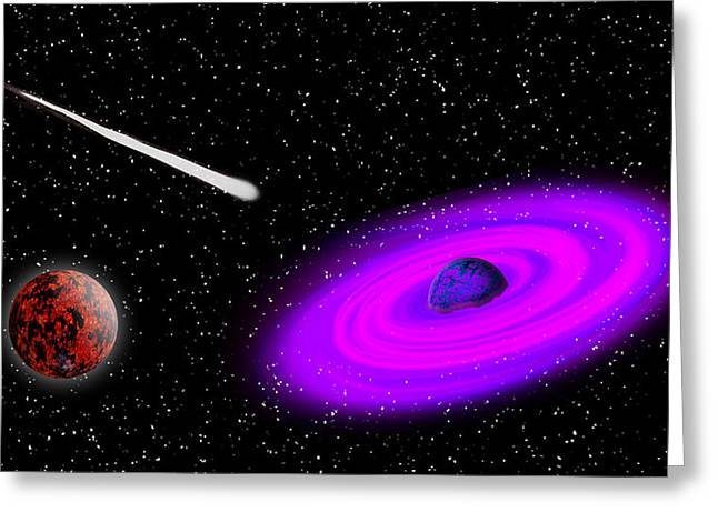 Dogs Digital Greeting Cards - Space 897 Greeting Card by Steve Herndon