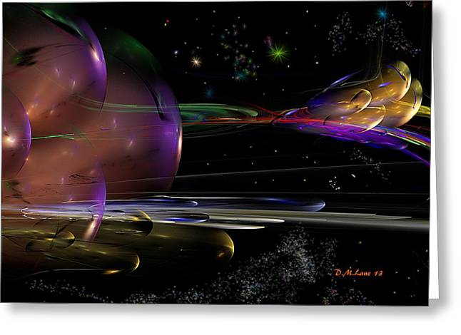 Si-fi Fractal Greeting Cards - Space Abstraction Greeting Card by David Lane