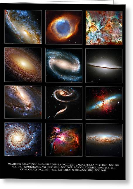 Helix Greeting Cards - Space Beauties Greeting Card by Ricky Barnard