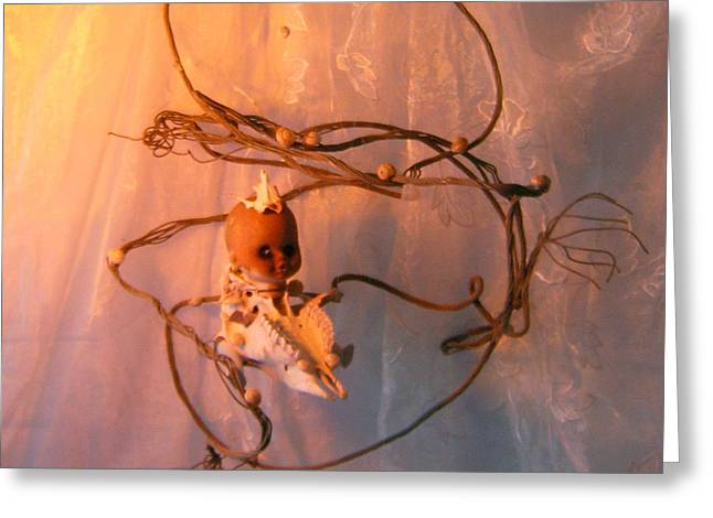 Space Sculptures Greeting Cards - Space Cadet Greeting Card by Kerry Scally