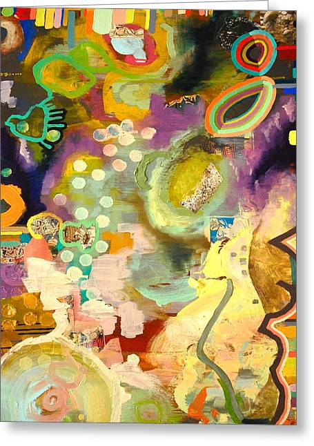 Outerspace Mixed Media Greeting Cards - Space Camp Detail Greeting Card by Britt Kuechenmeister
