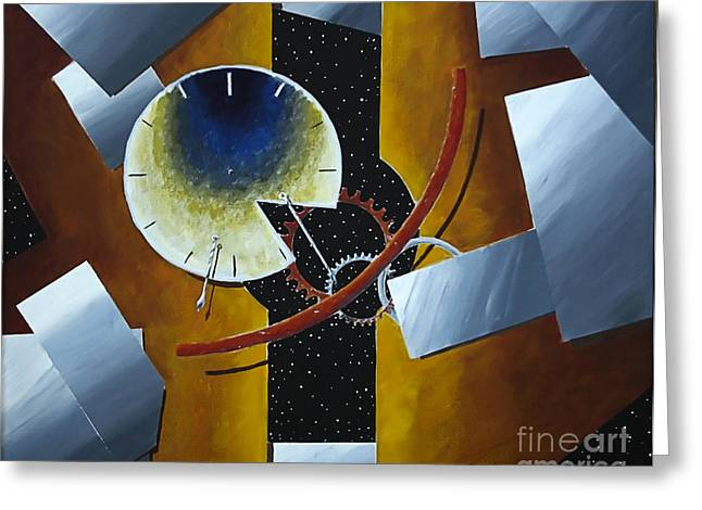 Junk Paintings Greeting Cards - Space Junk Greeting Card by Robert Ball