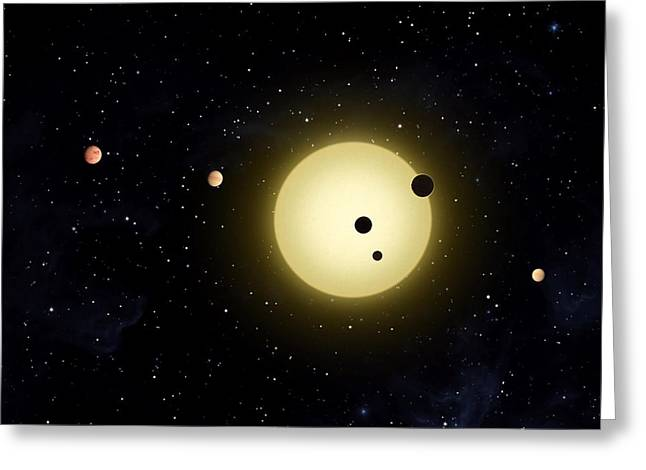 Planet Earth Greeting Cards - Space Kepler 11 Introduction Greeting Card by Movie Poster Prints