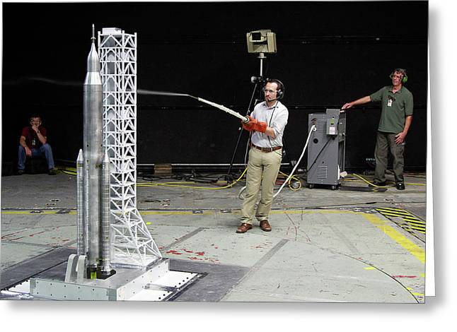 Space Launch System Testing Greeting Card by Nasa