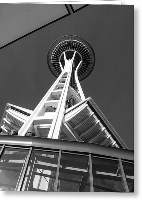 John Kennedy Greeting Cards - Space Needle Greeting Card by John Kennedy