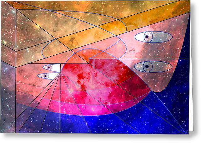 Artisan Made Greeting Cards - Space Odyssey 05 Greeting Card by Ron Davidson