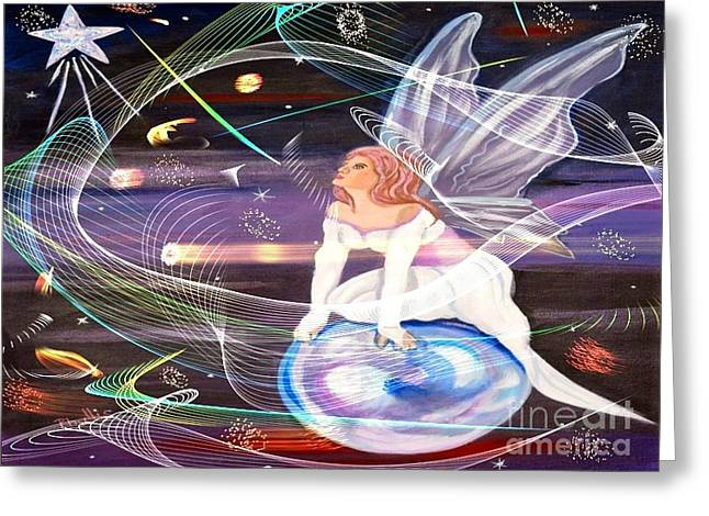 My Space Greeting Cards - Space Greeting Card by Phyllis Kaltenbach