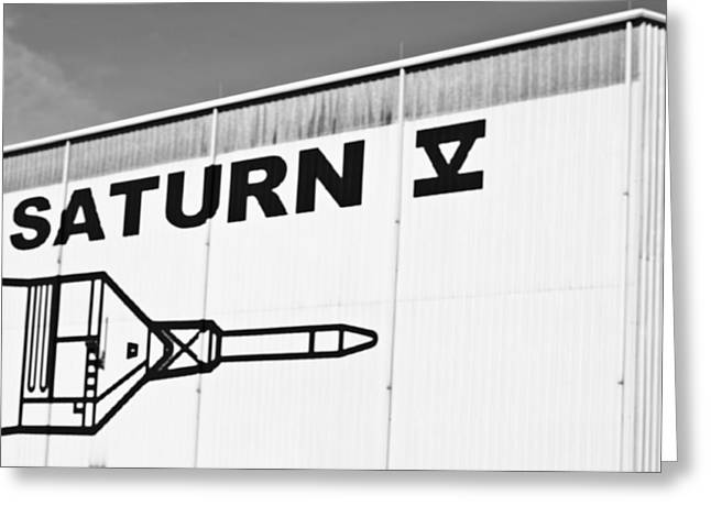 Artest Houston Rockets Greeting Cards - Space-Saturn 5-Building Greeting Card by Matthew Miller